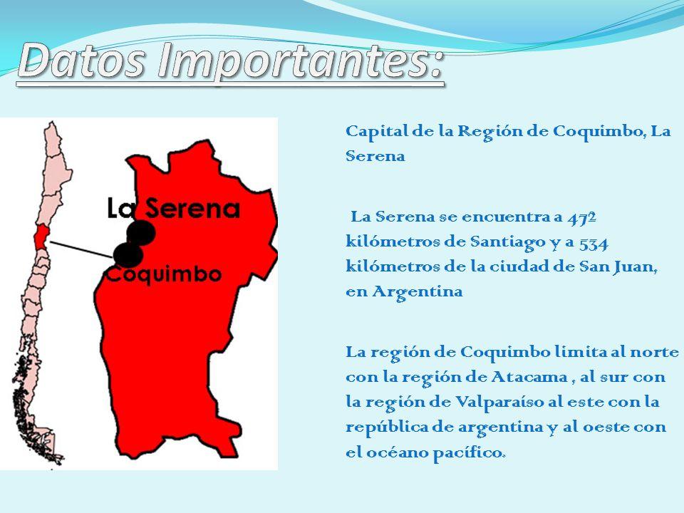 Datos Importantes: Capital de la Región de Coquimbo, La Serena