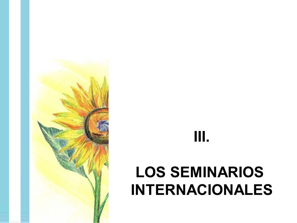 III. LOS SEMINARIOS INTERNACIONALES