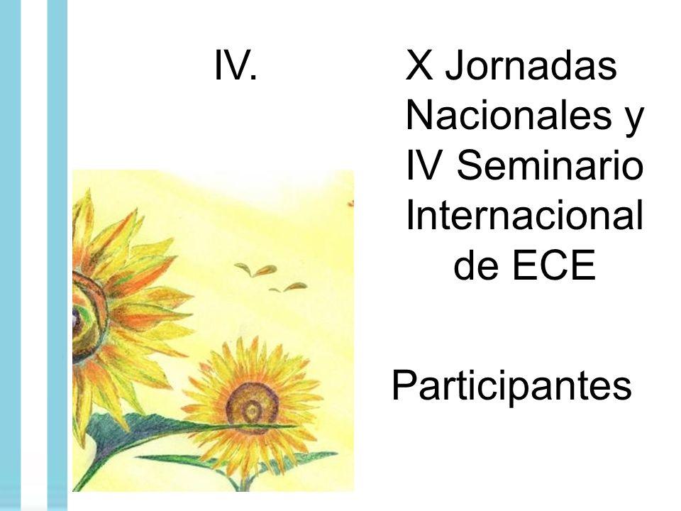 X Jornadas Nacionales y IV Seminario Internacional de ECE