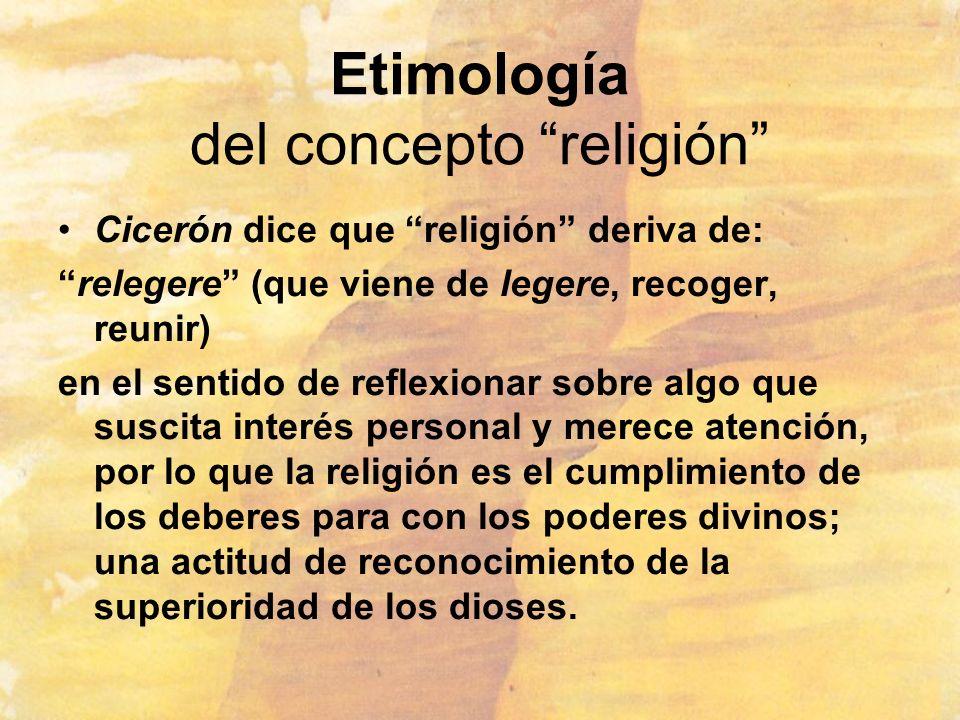 Etimología del concepto religión