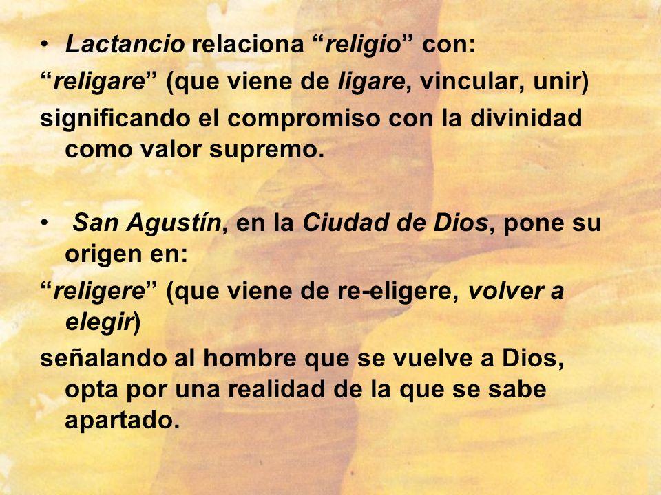 Lactancio relaciona religio con: