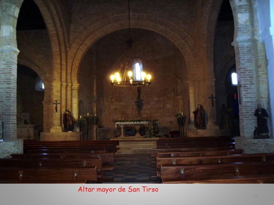 Altar mayor de San Tirso