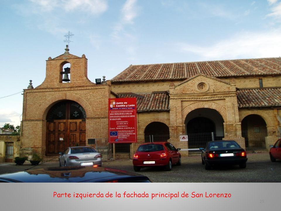 Parte izquierda de la fachada principal de San Lorenzo