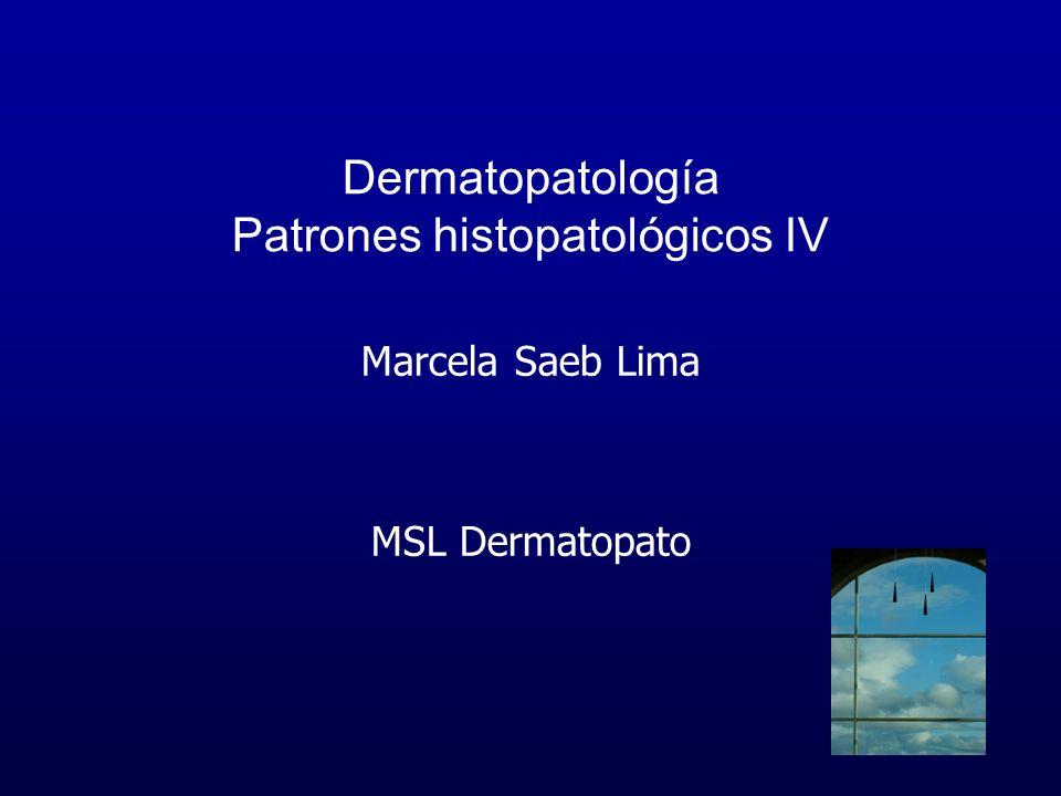 Dermatopatología Patrones histopatológicos IV