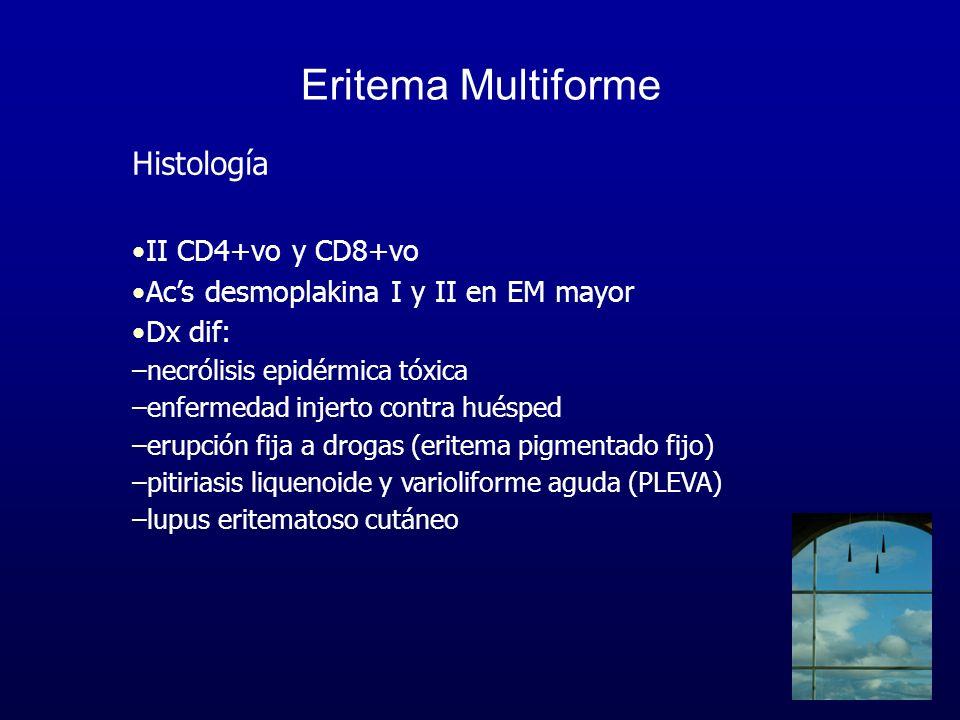 Eritema Multiforme Histología II CD4+vo y CD8+vo