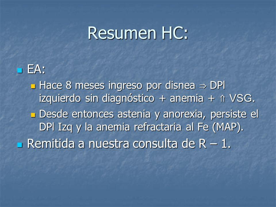 Resumen HC: EA: Remitida a nuestra consulta de R – 1.
