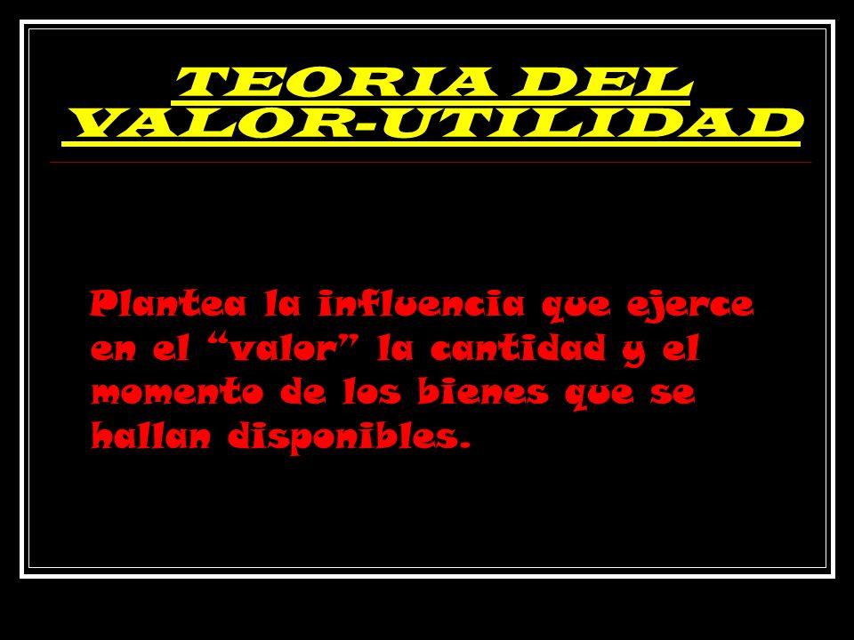 TEORIA DEL VALOR-UTILIDAD