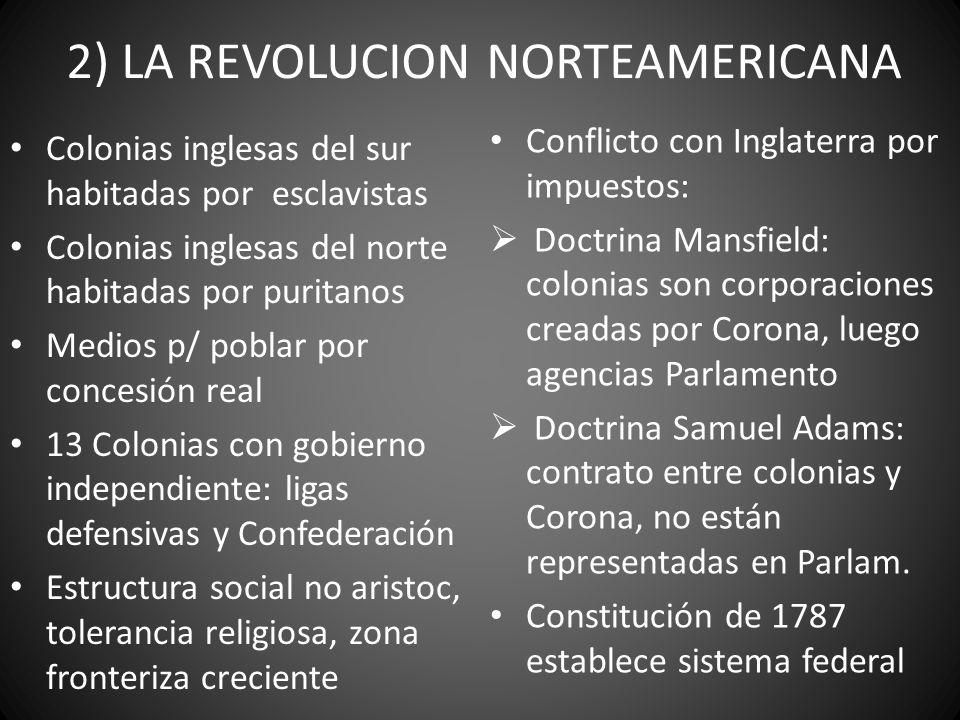 2) LA REVOLUCION NORTEAMERICANA