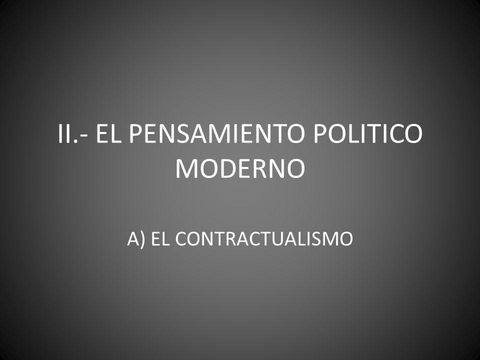 II.- EL PENSAMIENTO POLITICO MODERNO