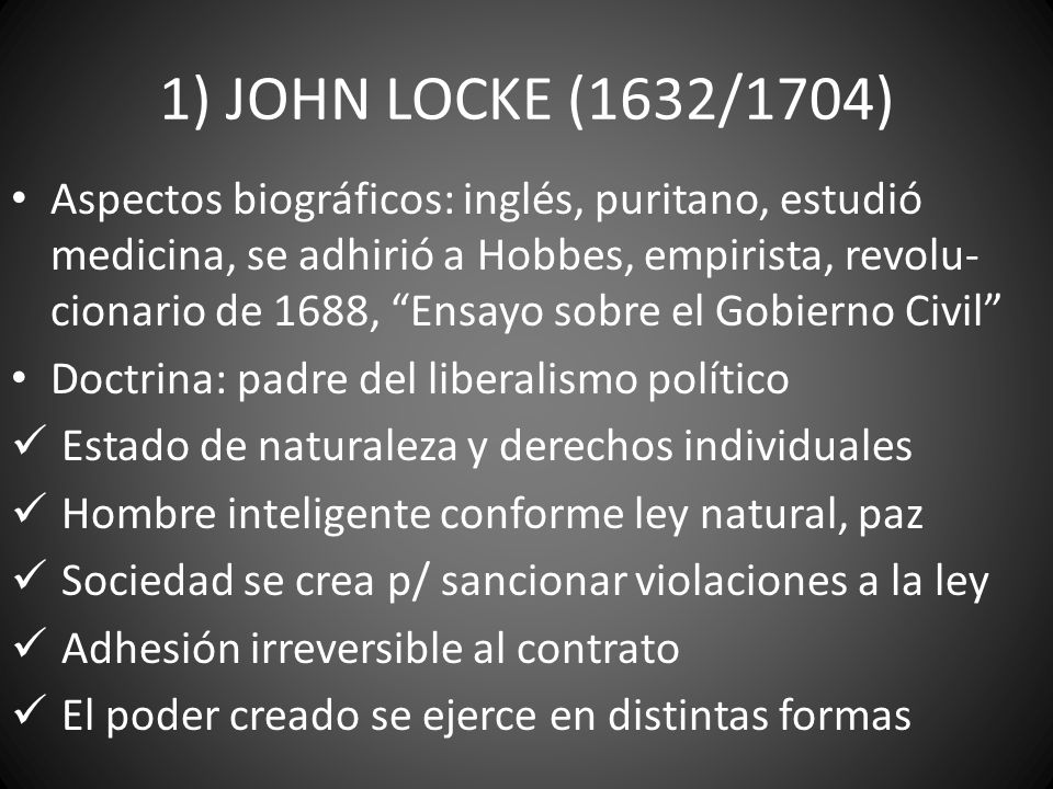 1) JOHN LOCKE (1632/1704)
