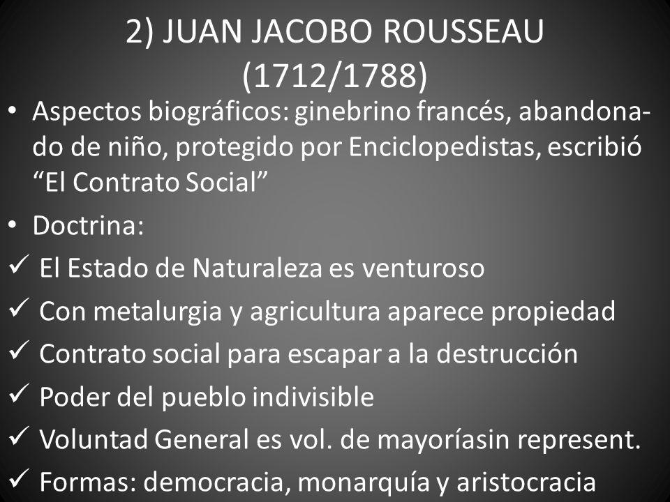2) JUAN JACOBO ROUSSEAU (1712/1788)