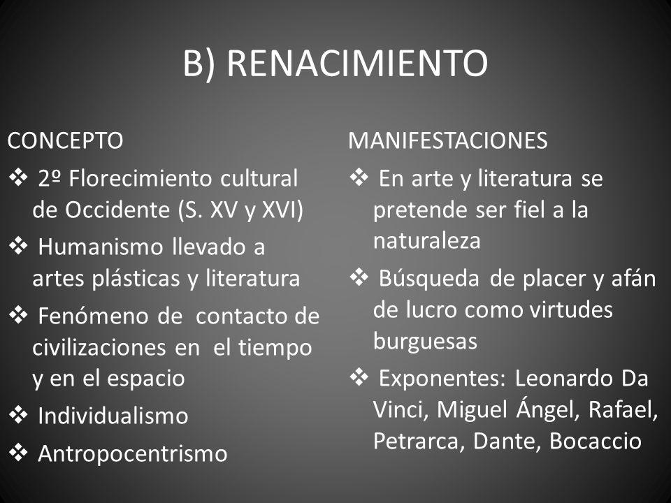 B) RENACIMIENTO CONCEPTO