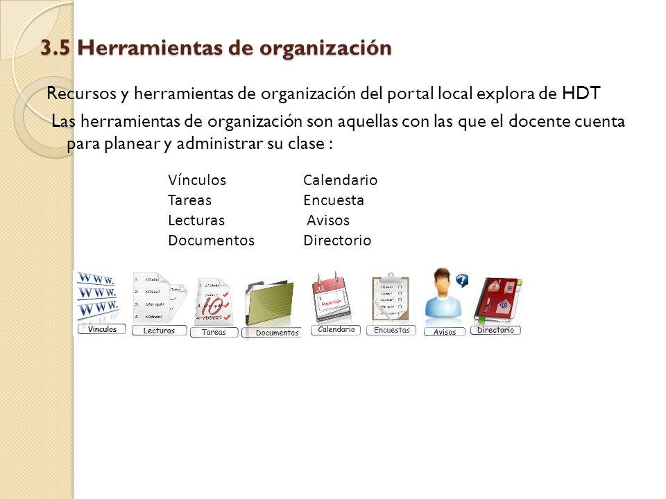 3.5 Herramientas de organización