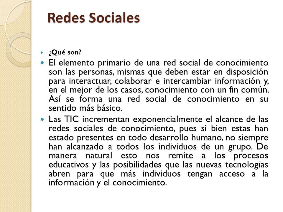 Redes Sociales ¿Qué son