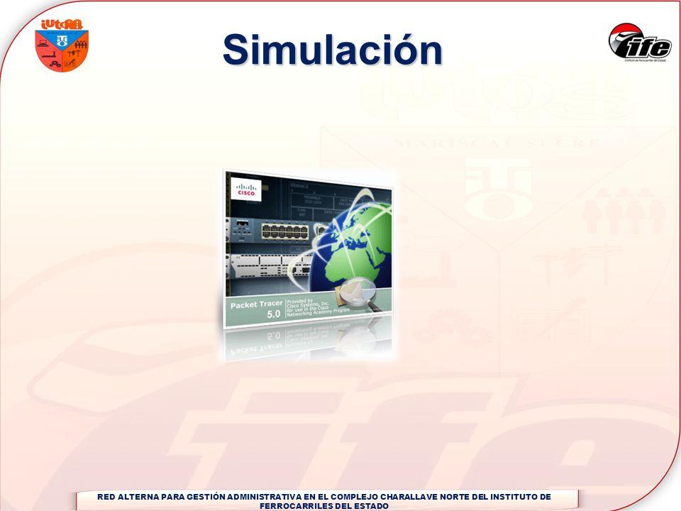 SimulaciónRED ALTERNA PARA GESTIÓN ADMINISTRATIVA EN EL COMPLEJO CHARALLAVE NORTE DEL INSTITUTO DE FERROCARRILES DEL ESTADO.