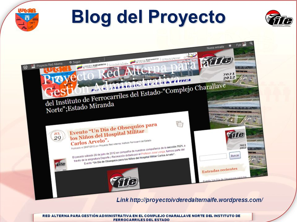 Blog del Proyecto Link http://proyectoivderedalternaife.wordpress.com/