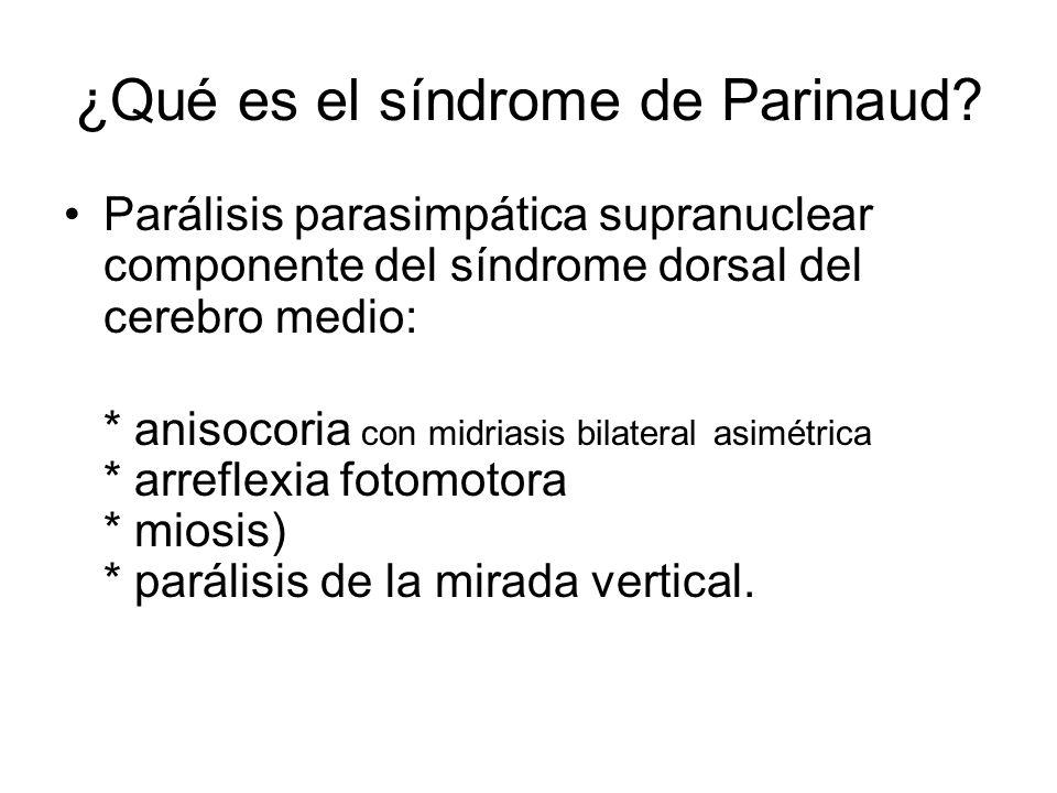 ¿Qué es el síndrome de Parinaud