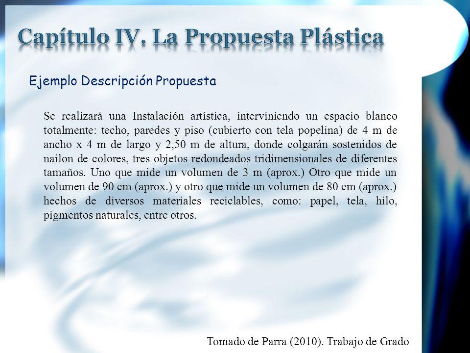 Capítulo IV. La Propuesta Plástica