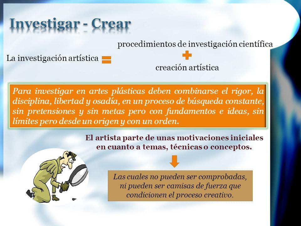 Investigar - Crear procedimientos de investigación científica