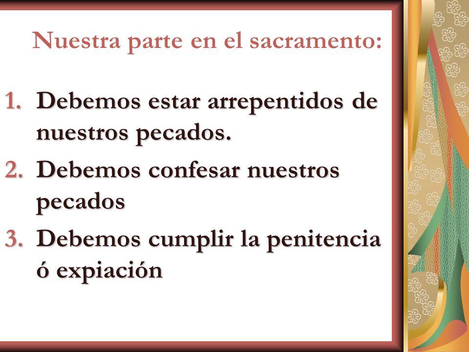 Nuestra parte en el sacramento: