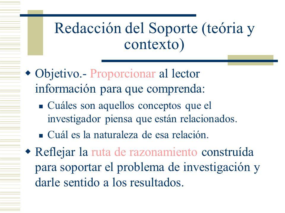 Redacción del Soporte (teória y contexto)