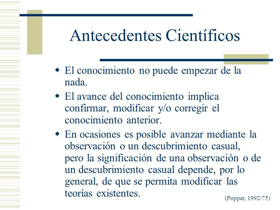 Antecedentes Científicos