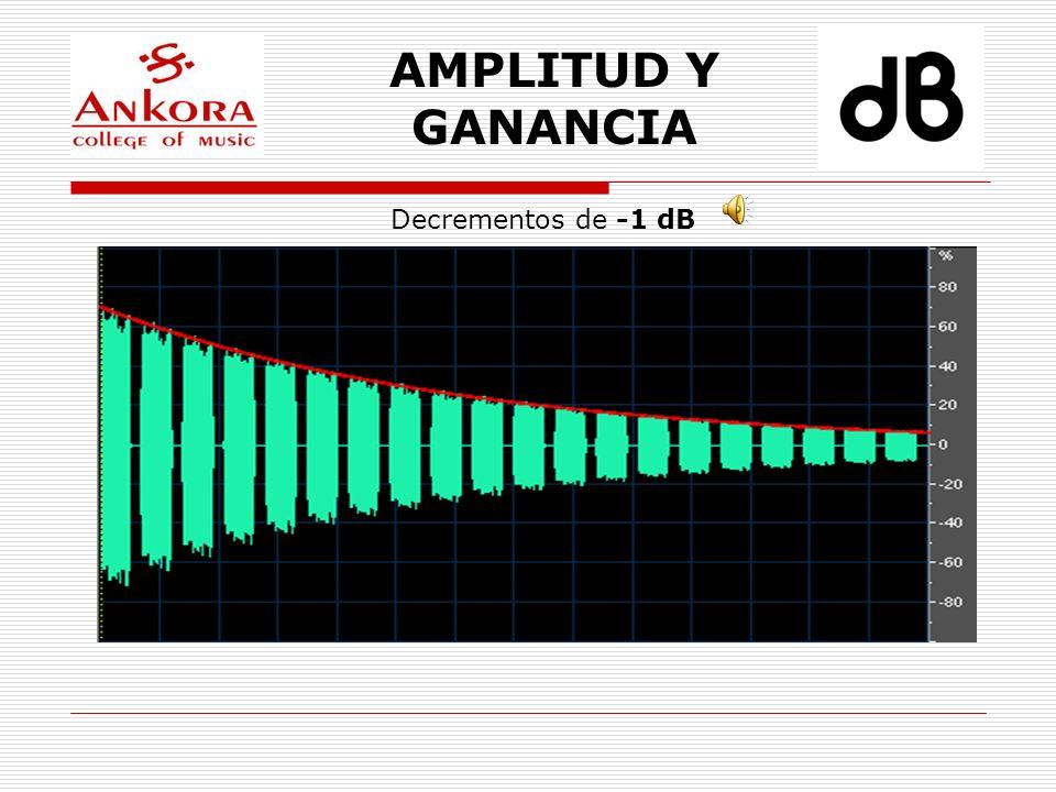 AMPLITUD Y GANANCIA Decrementos de -1 dB
