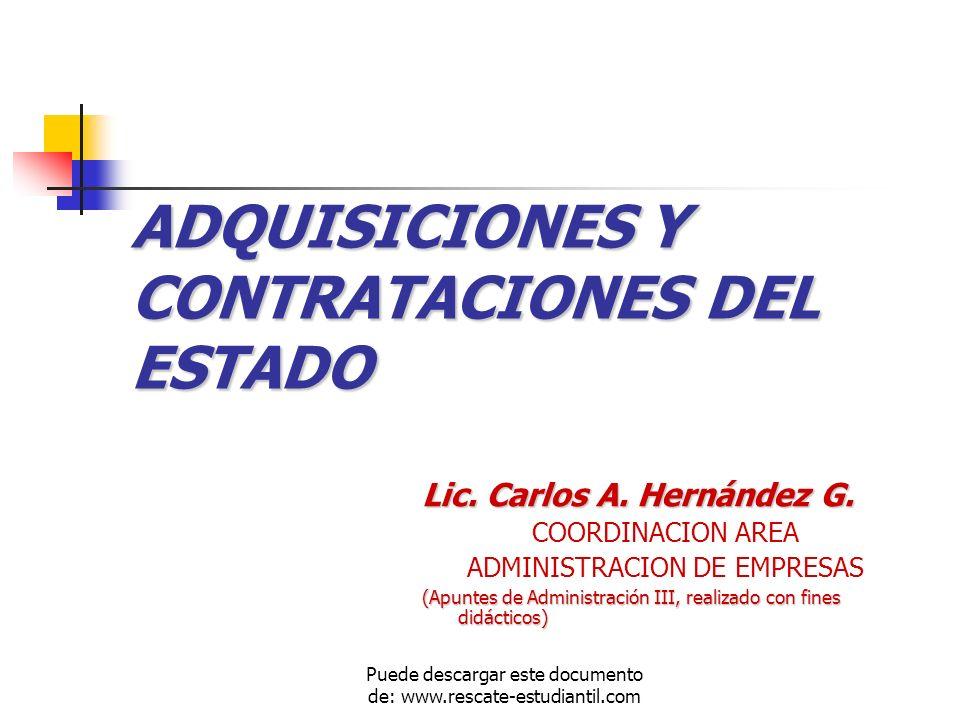 ADQUISICIONES Y CONTRATACIONES DEL ESTADO