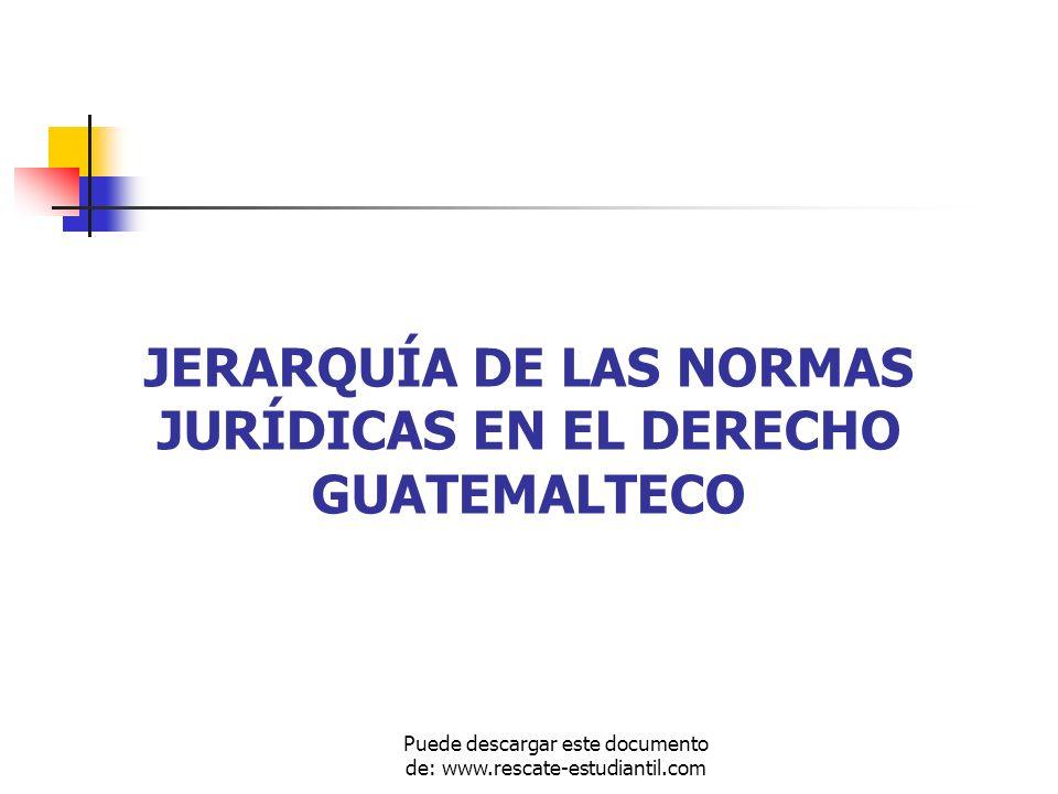 JERARQUÍA DE LAS NORMAS JURÍDICAS EN EL DERECHO GUATEMALTECO