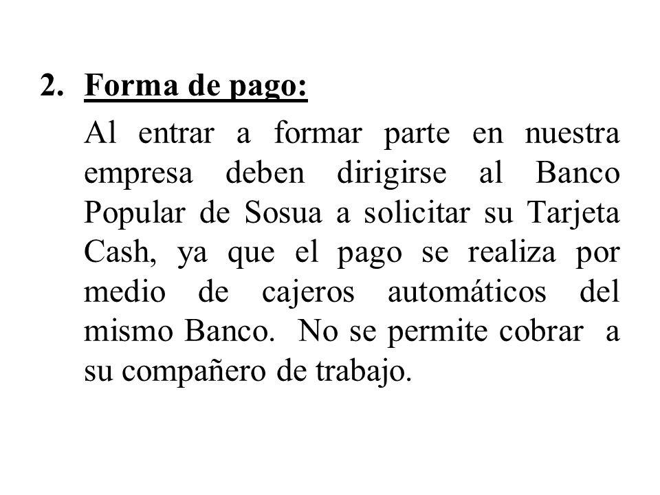 Forma de pago: