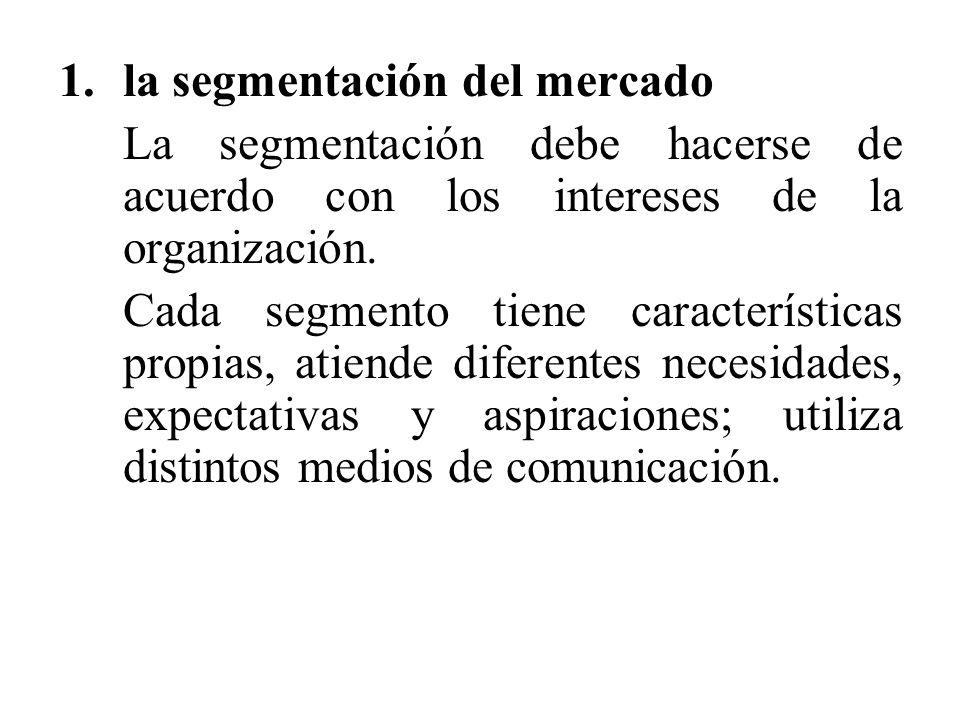 la segmentación del mercado