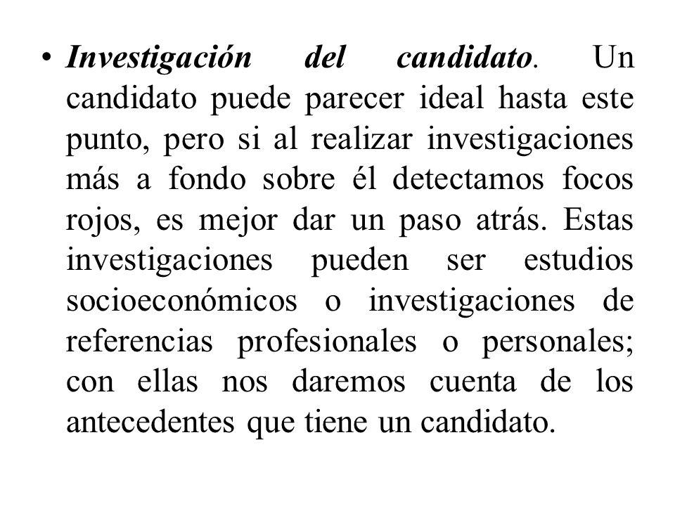 Investigación del candidato