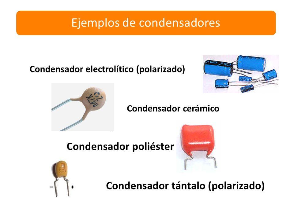 Ejemplos de condensadores