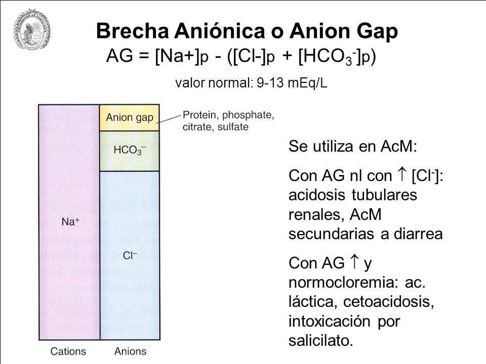 Brecha Aniónica o Anion Gap