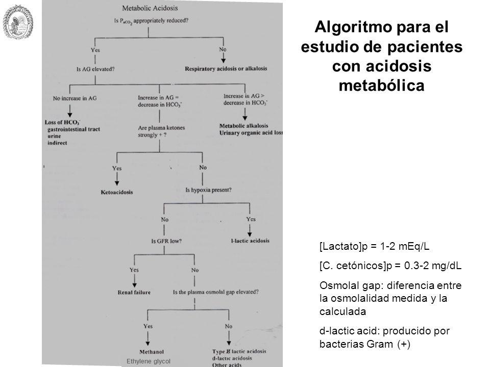 Algoritmo para el estudio de pacientes con acidosis metabólica