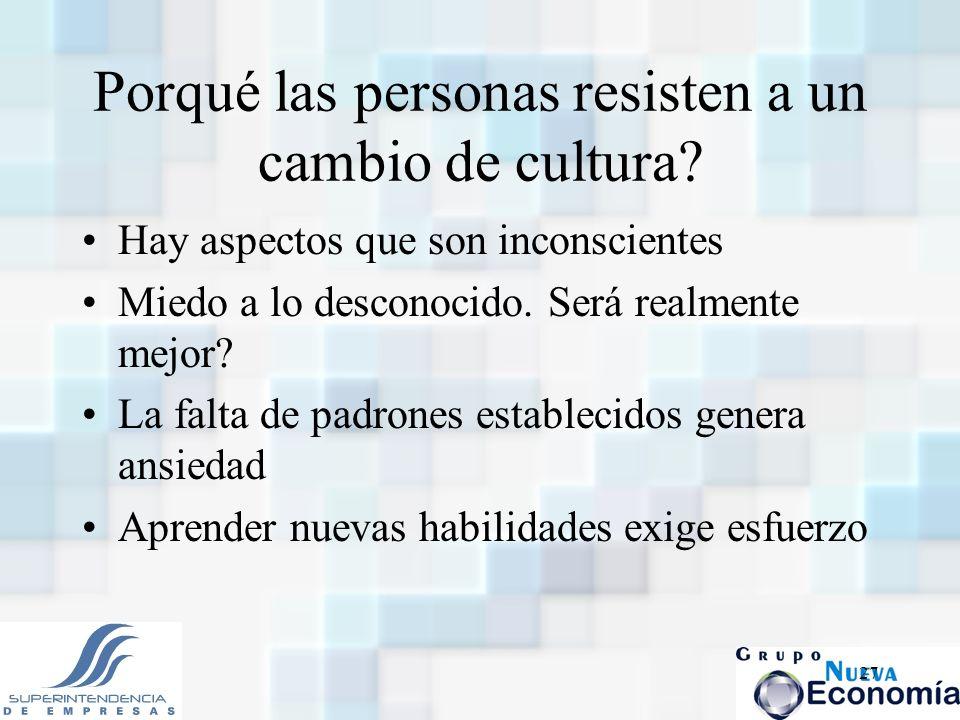 Porqué las personas resisten a un cambio de cultura