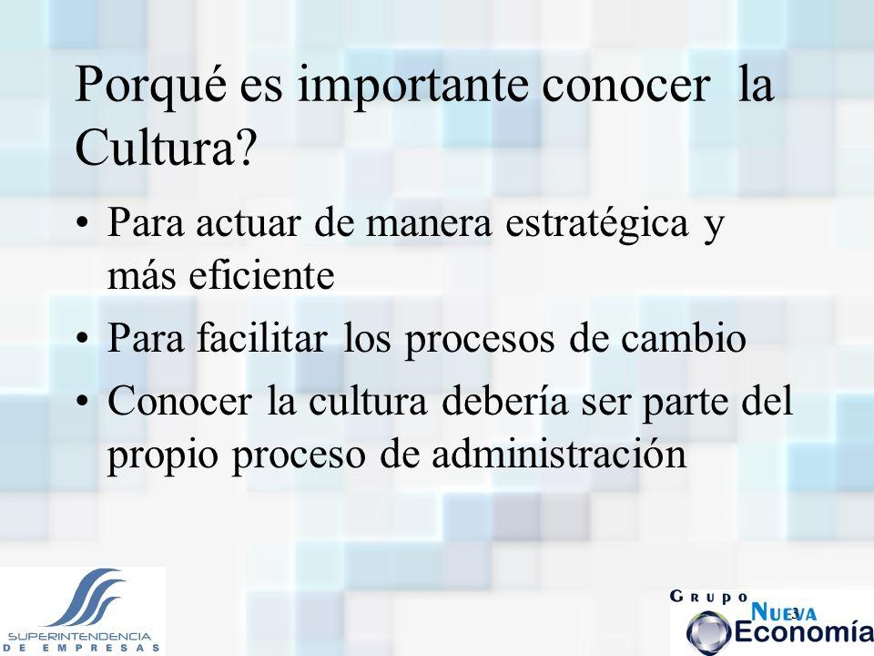 Porqué es importante conocer la Cultura