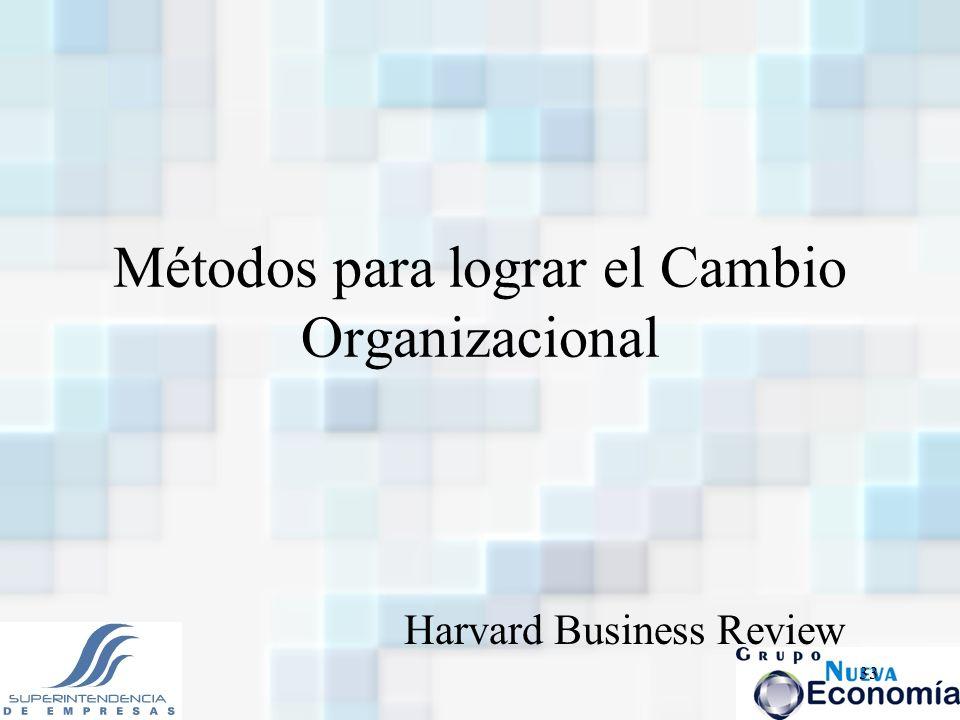 Métodos para lograr el Cambio Organizacional