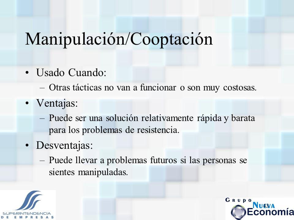 Manipulación/Cooptación