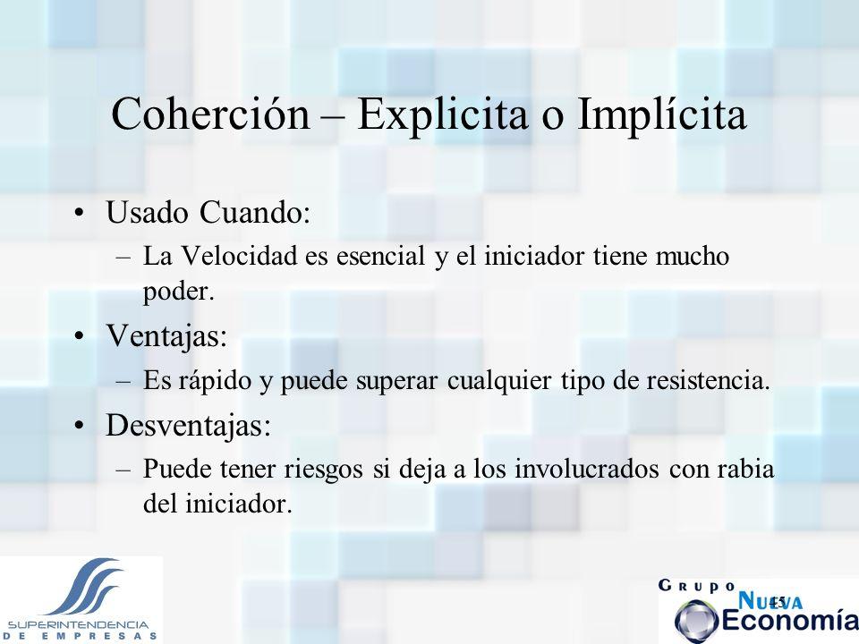 Coherción – Explicita o Implícita