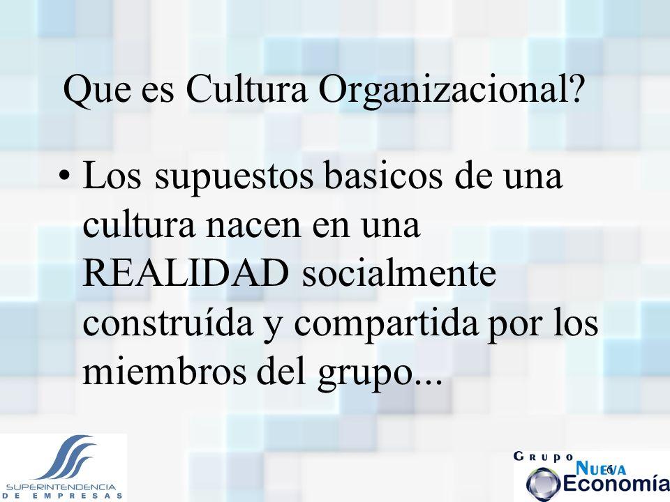 Que es Cultura Organizacional