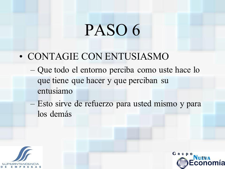 PASO 6 CONTAGIE CON ENTUSIASMO