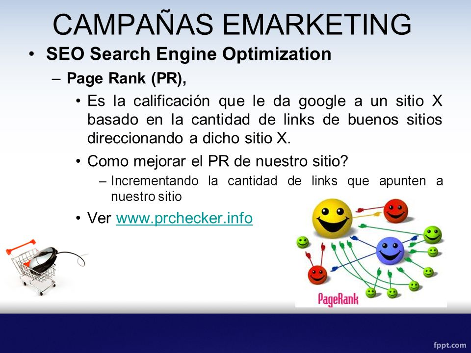 CAMPAÑAS EMARKETING SEO Search Engine Optimization Page Rank (PR),
