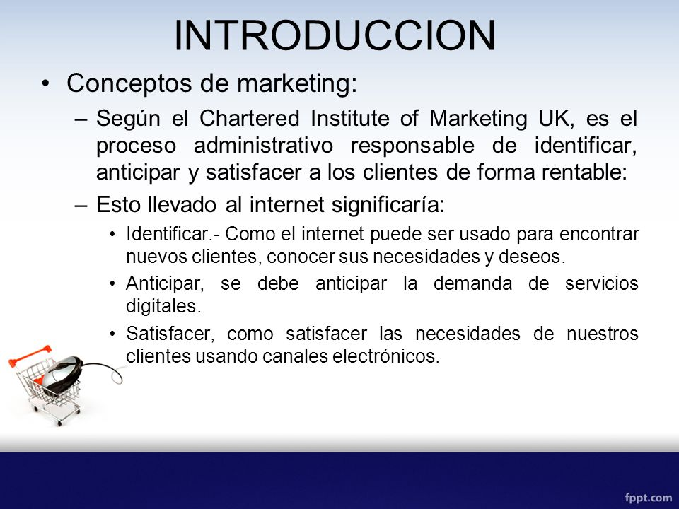 INTRODUCCION Conceptos de marketing: