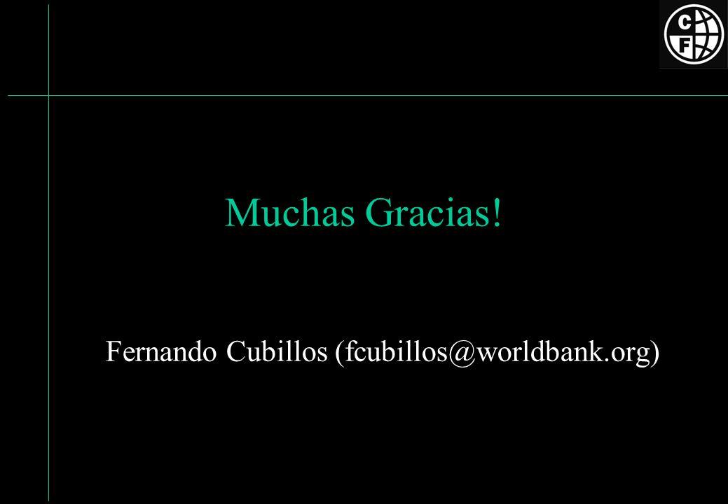 Fernando Cubillos (fcubillos@worldbank.org)