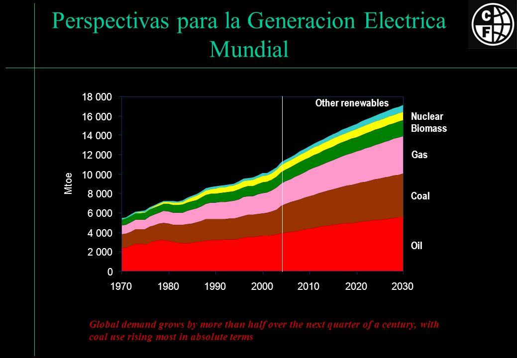 Perspectivas para la Generacion Electrica Mundial