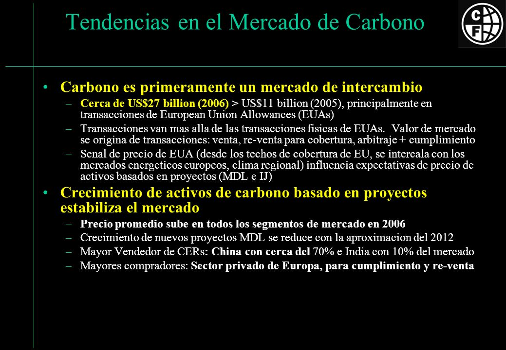 Tendencias en el Mercado de Carbono