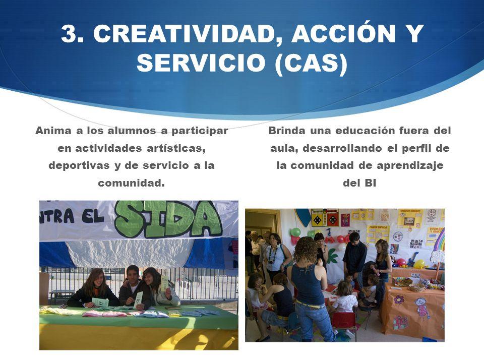 3. CREATIVIDAD, ACCIÓN Y SERVICIO (CAS)