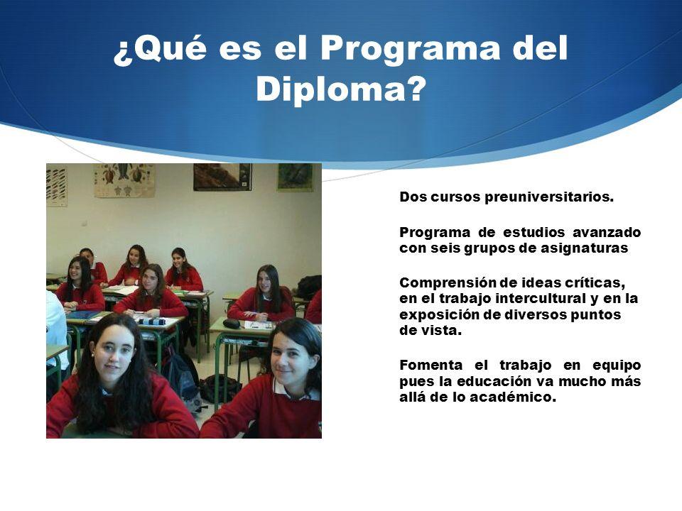 ¿Qué es el Programa del Diploma