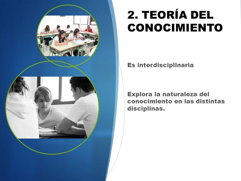 2. TEORÍA DEL CONOCIMIENTO
